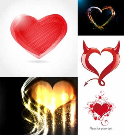 Free vector Vector Heart  romantic heartshaped vector graphic