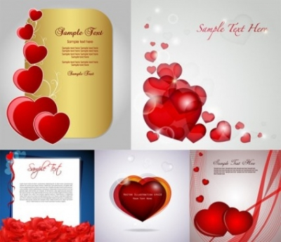 Free vector Vector Heart  romantic love card vector