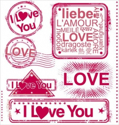Free vector Vector misc  romantic love stamp 01 vector