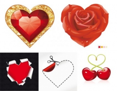 Free vector Vector misc  romantic red element vector