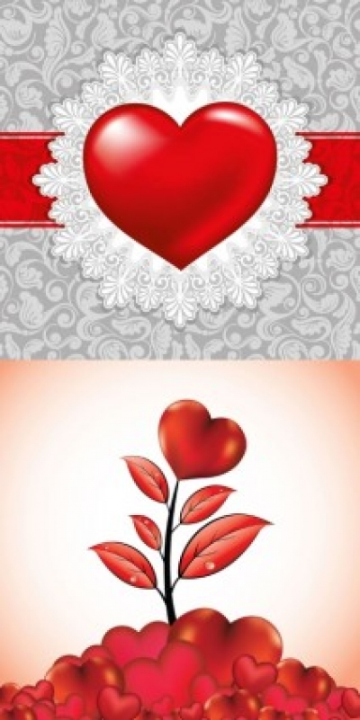 Free vector Vector Heart  romantic valentine day heartshaped elements vector