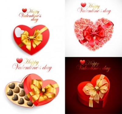 Free vector Vector Heart  romantic valentine day heartshaped gift box vector