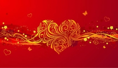 Free vector Vector background  romantic valentine day heartshaped pattern vector background