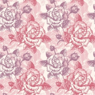 Free vector Vector background  rose pattern background 03 vector