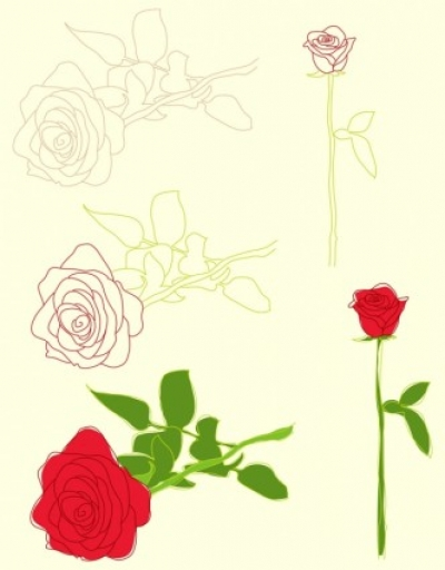 Free vector Vector misc  Roses Illustrations