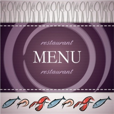 Free vector Vector background  seafood menu background vector