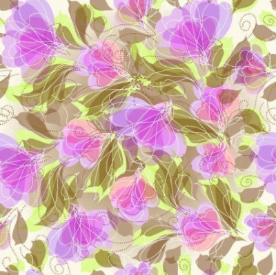 Free vector Vector background  Seameless Floral Vector Background