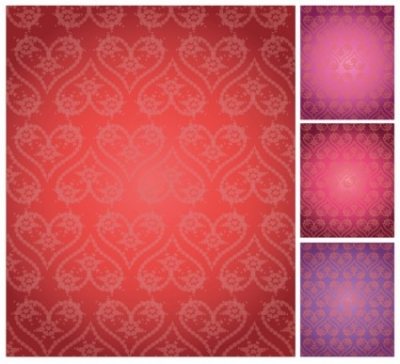 Free vector Vector background  Seamless Elegant Valentine background