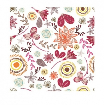 Free vector Vector floral  Seamless Floral Pattern