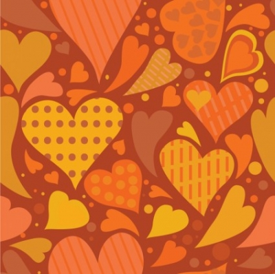 Free vector Vector pattern  Seamless heart textured background
