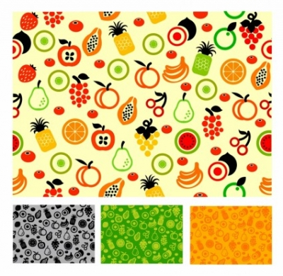 Free vector Vector floral  Seamless pattern fruit