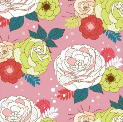 Free vector Vector background  Seamlessly Flower Vector Background