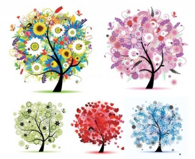 Free vector Vector plant  seasons tree vector