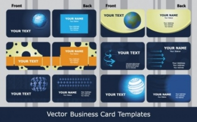 Free vector Vector misc  sense of business card templates technology blue 01 vector