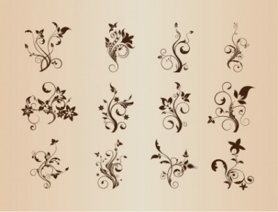 Free vector Vector floral  Set of Floral Elements for Design Vector Graphic