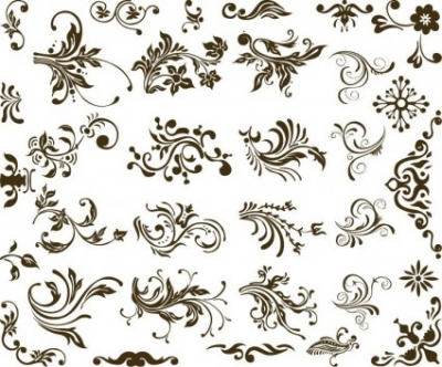 Free vector Vector floral  Set of Vector Floral Design