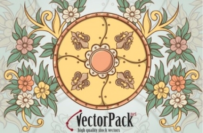 Free vector Vector floral  Shield and Floral Vector Element
