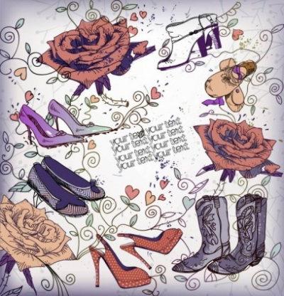 Free vector Vector misc  shoes fashion illustrator 04 vector