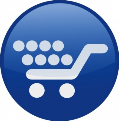 Free vector Vector clip art  shopping cart-blue