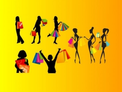 Free vector Vector Silhouettes  shopping female silhouette vector