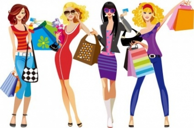 Free vector Vector people  Shopping Girls Vector Illustration