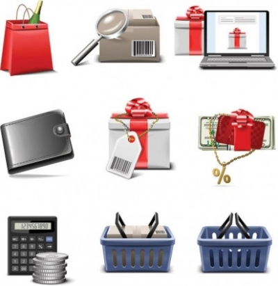Free vector Vector icon  shopping icon vector series