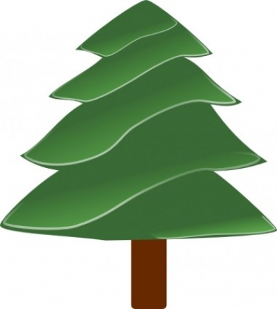 Free vector Vector clip art  Simple Evergreen, With Highlights clip art
