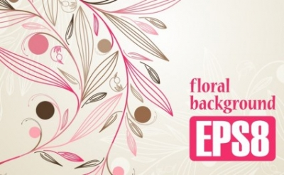 Free vector Vector background  Simple Floral Background