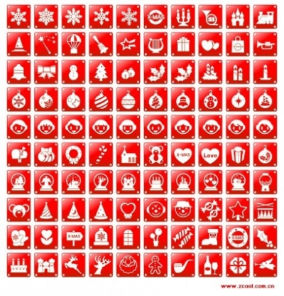 Free vector Vector icon  simple red christmas icon vector