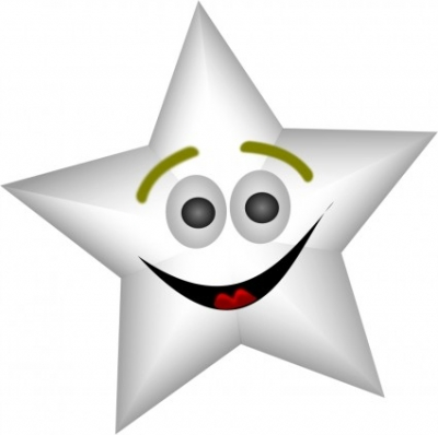 Free vector Vector clip art  Smiling Star with Transparency