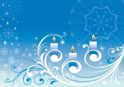 Free vector Vector pattern  snowflake candle pattern vector