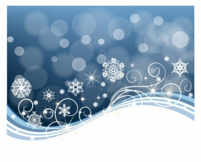 Free vector Vector background  Snowflake Swirl Background
