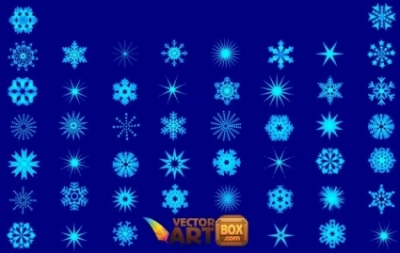 Free vector Vector misc  Snowflakes Vector