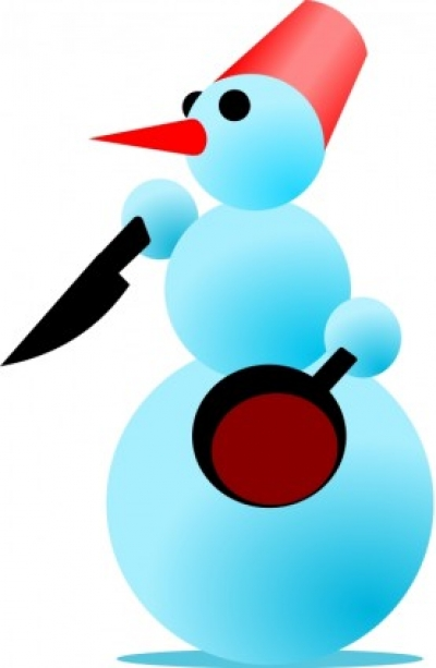 Free vector Vector clip art  Snowman-Cannibal by Rones