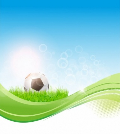 Free vector Vector sport  Soccer flow background