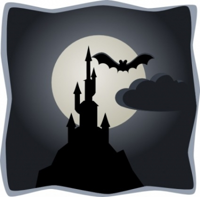 Free vector Vector clip art  Spooky Castle In Full Moon clip art