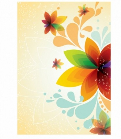Free vector Vector background  Spring Flower Background
