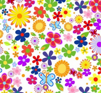 Free vector Vector flower  Spring Flowers Background Vector Graphic