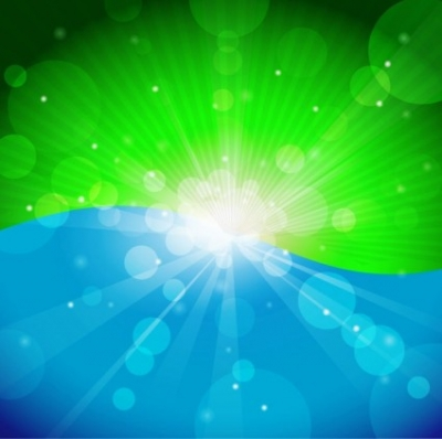 Free vector Vector abstract  Spring or Summer Abstract Background with Bokeh Lights