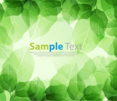 Free vector Vector background  Spring Season Fresh Green Leaves Vector Background