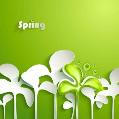 Free vector Vector background  spring vector background