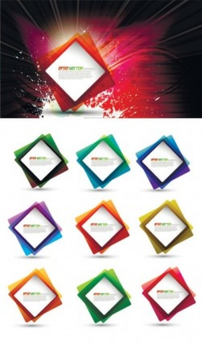 Free vector Vector background  square pattern superimposed with the light vector background