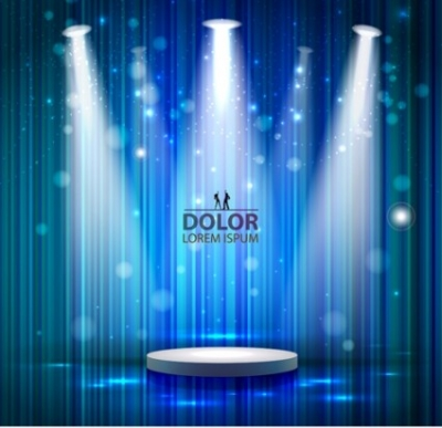 Free vector Vector background  Stage lighting background design vector