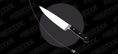 Free vector Vector misc  Stainless steel knife vector material