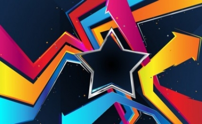 Free vector Vector background  Star And Arrows Background