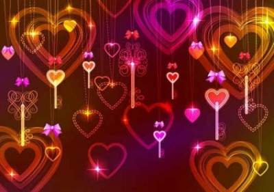 Free vector Vector background  Starlight of Valentine's Day
