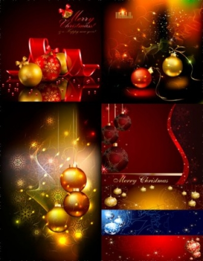 Free vector Vector background  starstudded christmas ball background vector