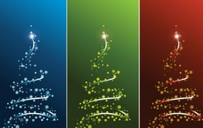 Free vector Vector Christmas  STYLIZED VECTOR CHRISTMAS TREE SET
