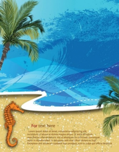 Free vector Vector background  summer beach background 01 vector