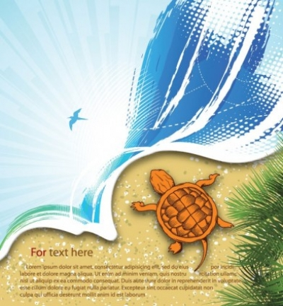 Free vector Vector background  summer beach background 03 vector